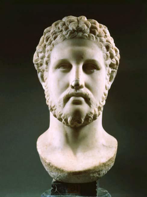 A bust of Philip II of Macedon.