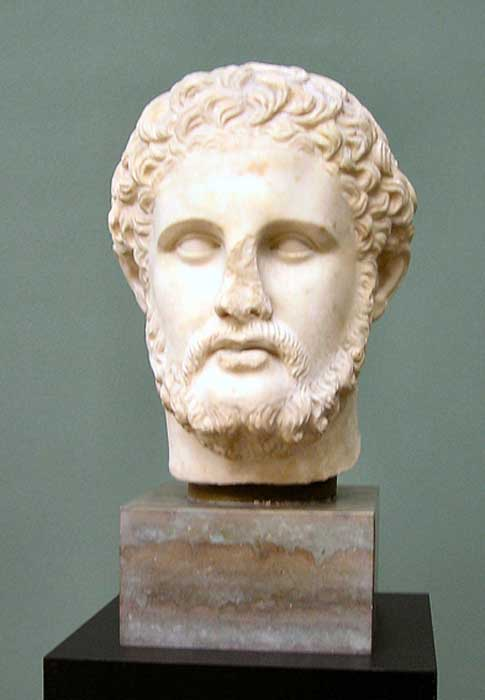 Philip II of Macedon, Alexander's father.