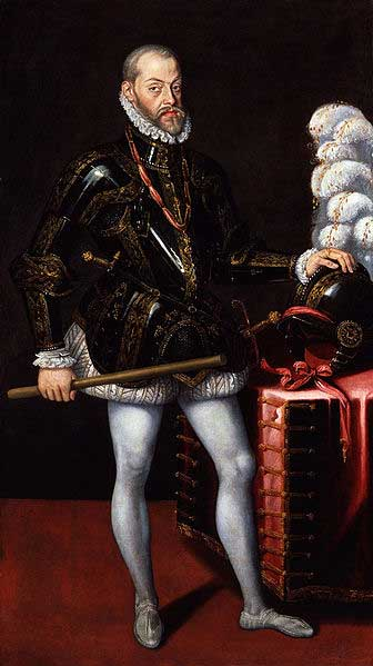 Philip II, the King of Spain (Public Domain), hoped that by conquering England, the country could be converted back to Roman Catholicism.
