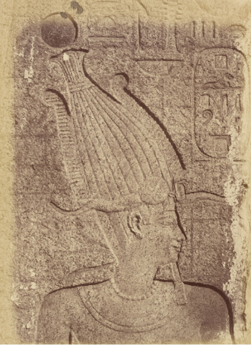 Philip III as pharaoh on a relief in Karnak.