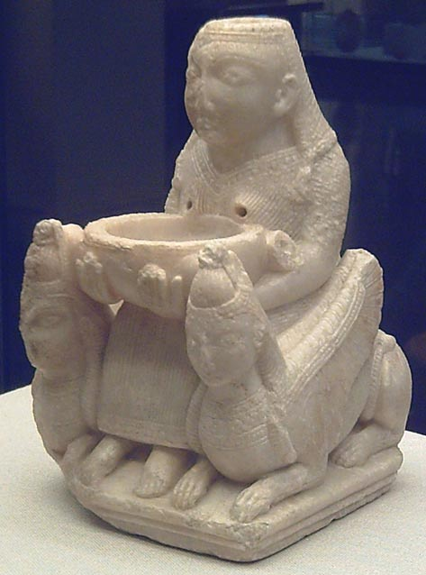 Phoenician figure representing an ancient Mideastern deity, probably the goddess Astarte. 7th Century BC.