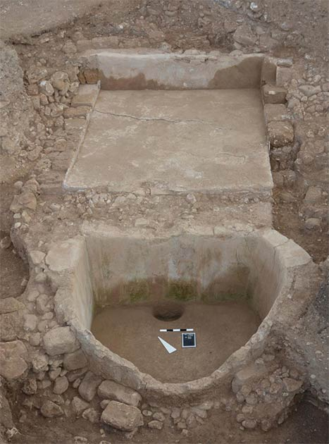The ancient Phoenician wine press at Tell el-Burak from the south-west. (Courtesy of the Tell el-Burak Archaeological Project/Antiquity)