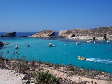 Gozo coast in Malta