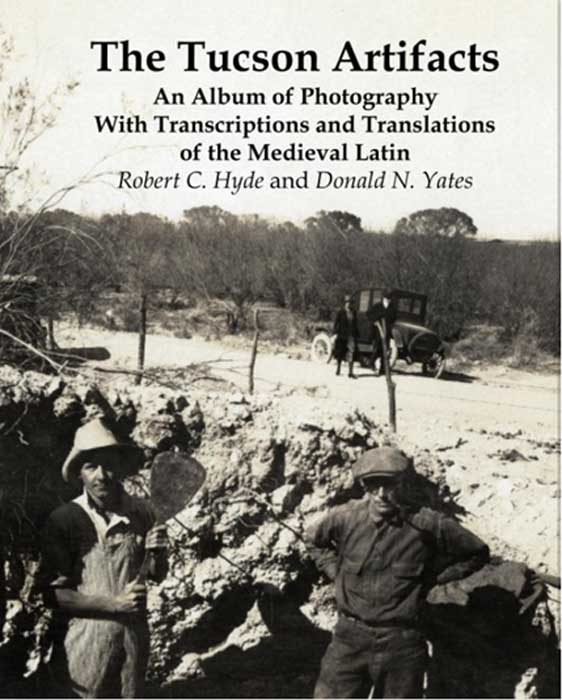 Photo of the Silver Bell Road site where the Tucson Artifacts were found, with. (Book Cover Image/blurb.com)