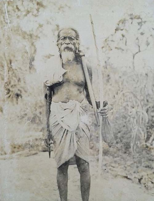 Photograph (circa 1970s) of the Most Prominent Vedda Chief, Late Tisahamy Aththo. (Media Jet/CC BY SA 4.0)