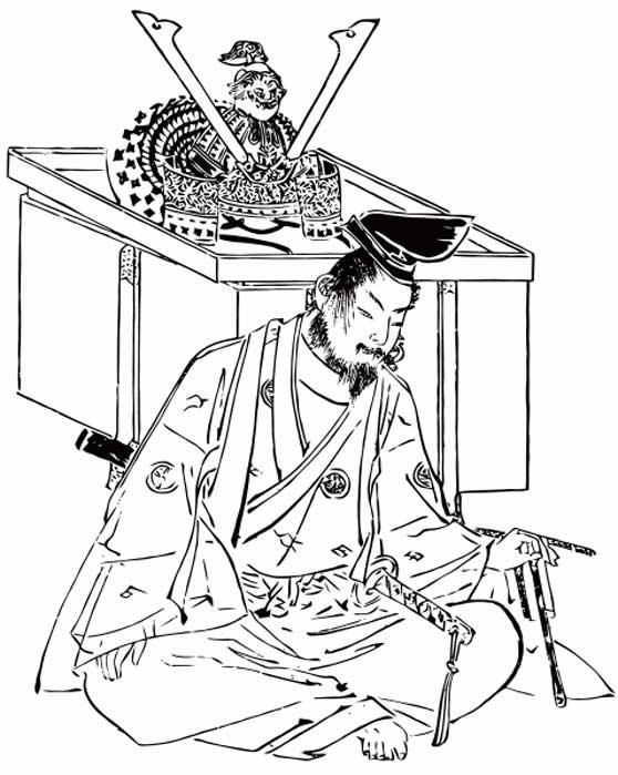 Picture of Yoshitsune drawn by Kikuchi Yosai