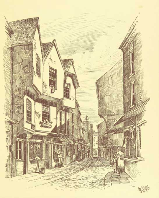 "Shambles from ""Picturesque York. [With illustrations.]"" (1886) (Public Domain)"