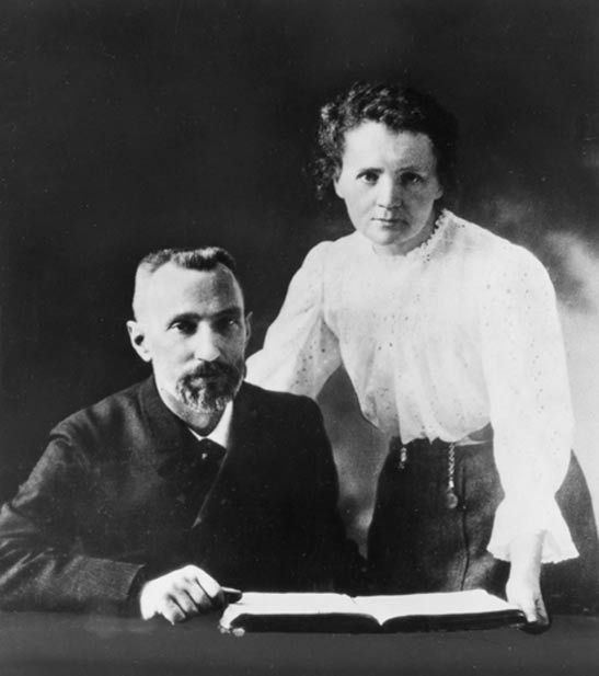 Pierre and Marie Curie, c. 1903.