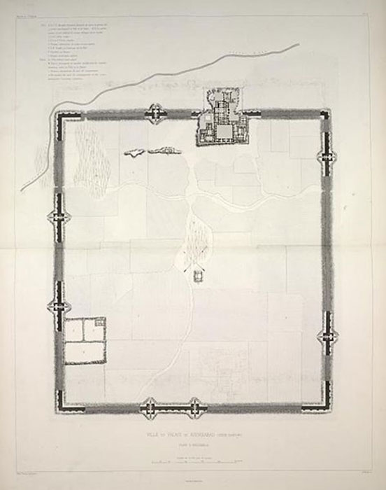 Plan of Dur-Sharrukin, by the French excavator Victor Place. (Annielogue / Public Domain)