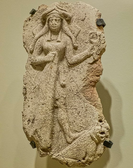 Plaque determined to be the goddess Ishtar was discovered in ancient Ebla. (Mary Harrsch / CC BY-SA 2.0)