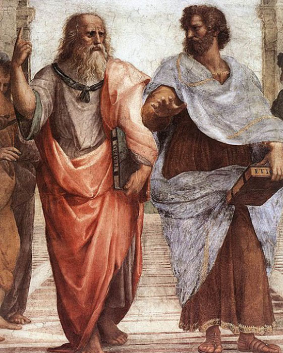Plato - left and Aristotle – right, are two of the five sacred men according to the Druze. (Jacobolus / Public Domain)