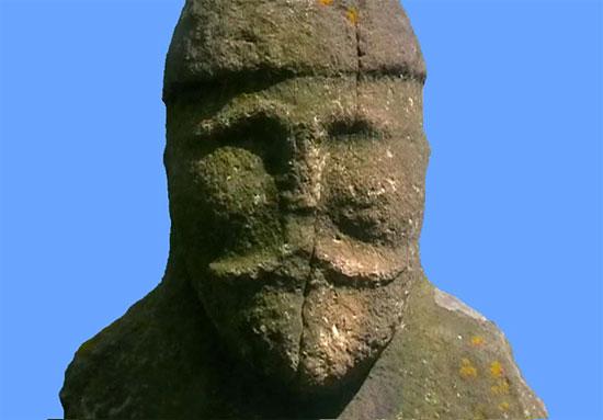 A Polovtsian statue from Luhansk, Ukraine
