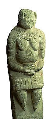 olovtsian statue holding a vessel