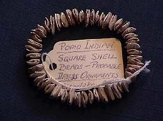 Pomo Indian square shell beads