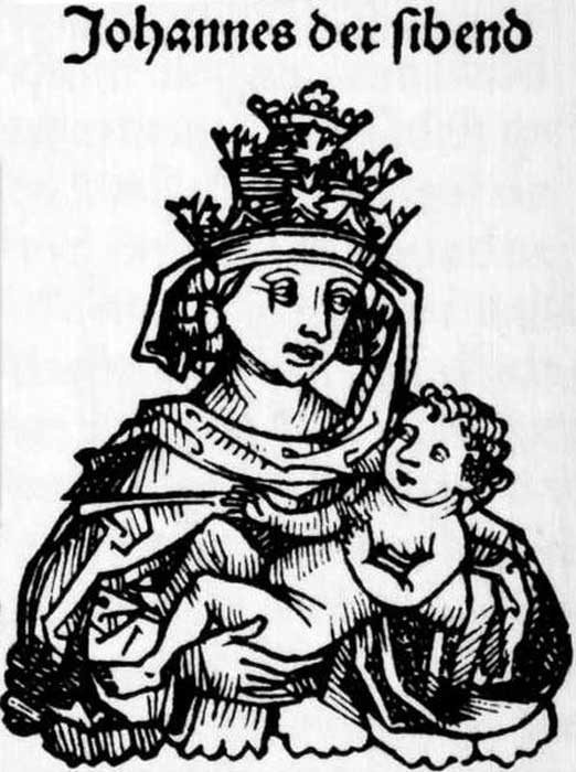 Pope Joan in the Nuremberg Chronicles. (Public Domain)