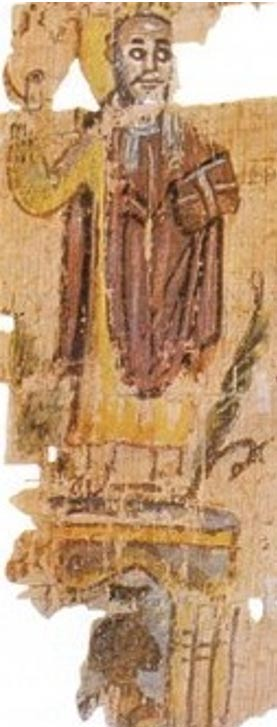 Pope Theophilus standing on a Serapeum, showing the Christian conquest over the ancient cult.