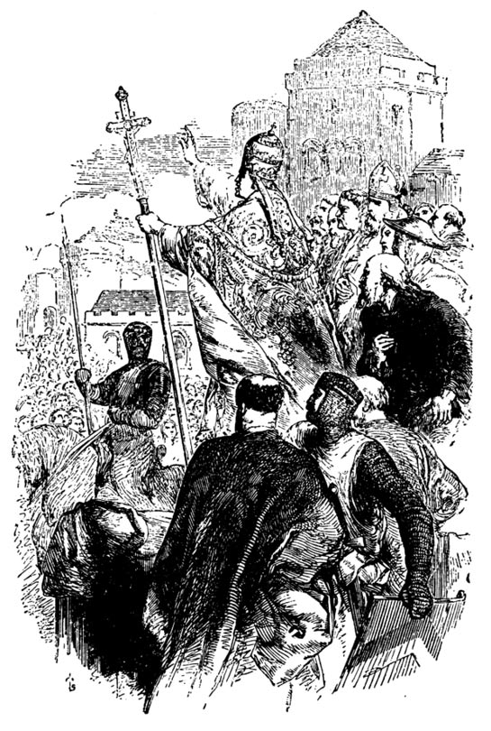 Papa Urbano ll predicar la Primera Cruzada.