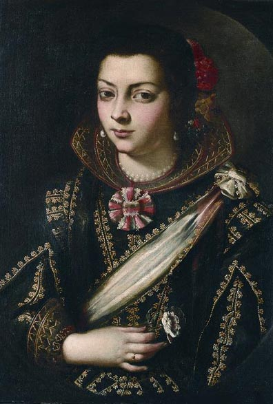 Portrait identified as Maria Pita, unknown artist. Maria Pita Casa Museo, La Coruña, Spain.