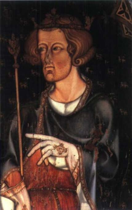 Portrait in Westminster Abbey, thought to be of Edward I.