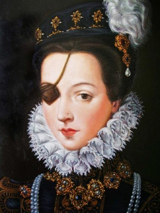 Portrait of Ana de Mendoza.