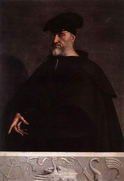 Portrait of Andrea Doria, c. 1520, by Sebastiano Del Piombo