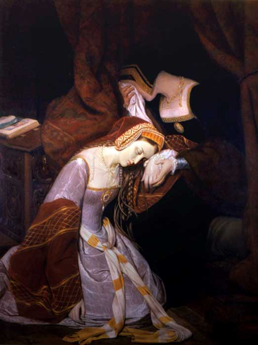 Portrait of Anne Boleyn in the Tower of London by Edouard Cibot