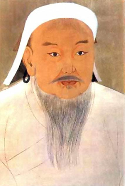 Portrait of Chinggis Khan (Genghis Khan). Yuan Dynasty.