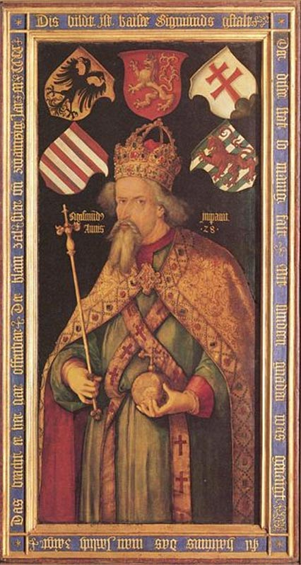 Portrait of Emperor Sigismund, painted after the emperor's death.