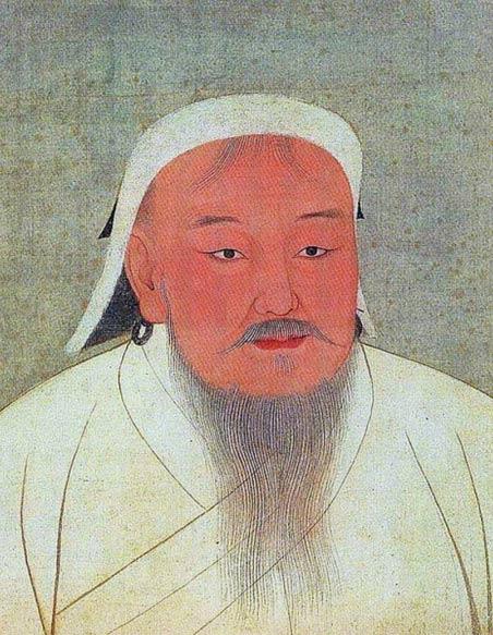Portrait of Chinggis Khan (Genghis Khan). Yuan Dynasty.