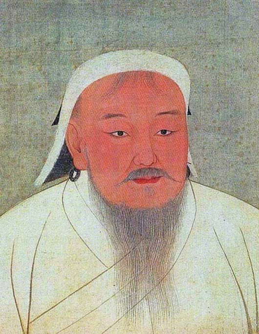 Portrait of Genghis Khan. (Public Domain)