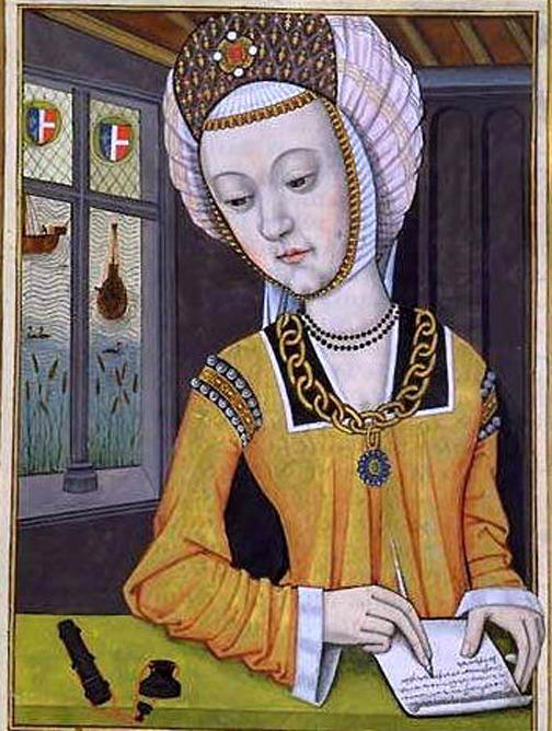 Portrait of Hypsipylé, first wife of Jason, from Octavien de Saint-Gelais