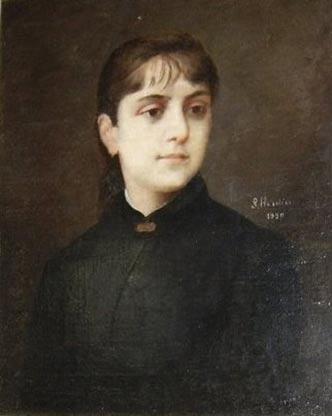 Portrait of Iulia Hasdeu.