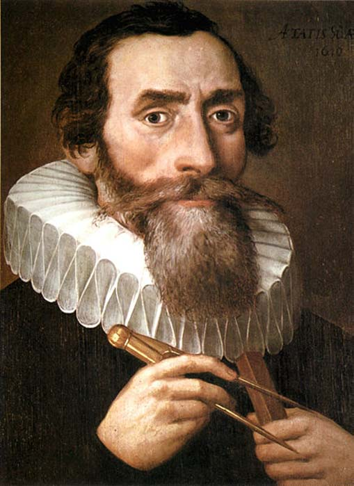 Portrait of Johannes Kepler, 1610.