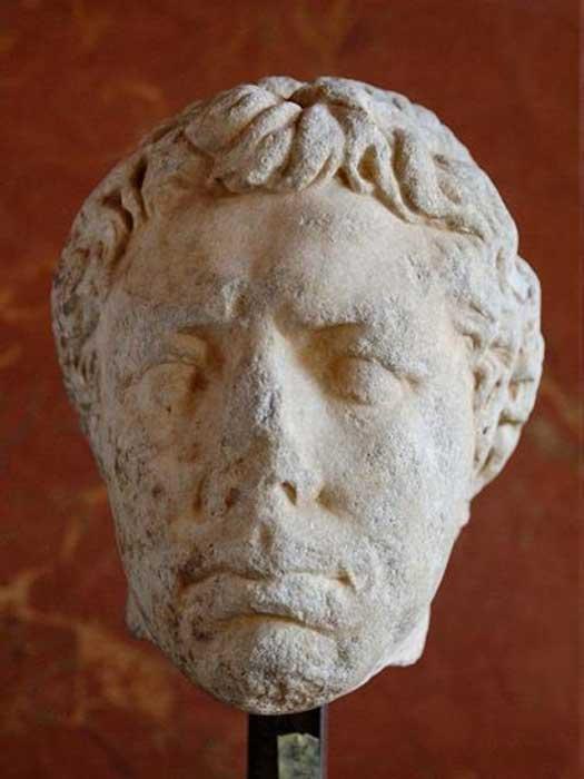 Portrait of Juba II, Louvre Museum.