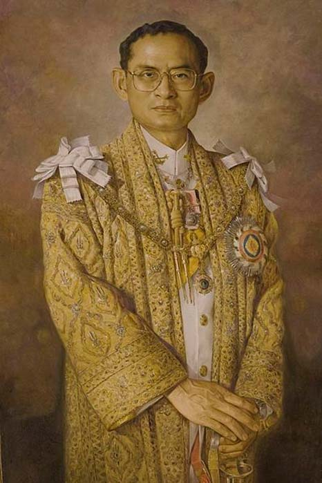 Portrait of King Bhumibol Adulyadej.
