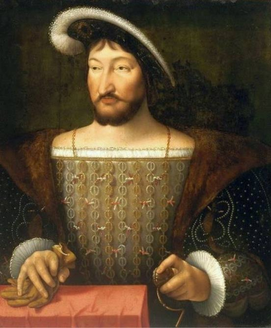 Portrait of King Francis I of France by Joos van Cleve c. 1530