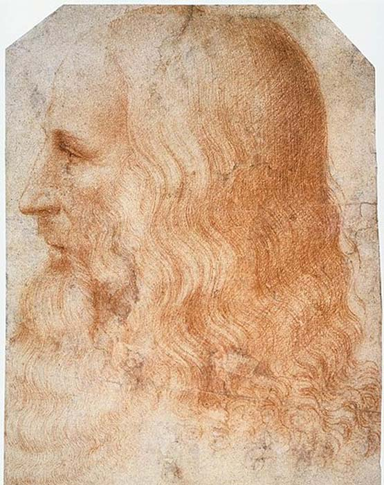 Portrait of Leonardo da Vinci by Francesco Melzi.