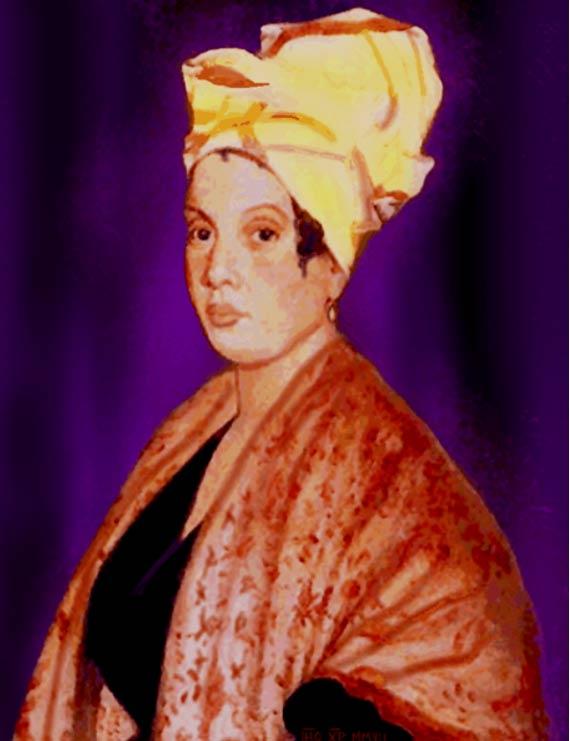 Portrait of Marie Laveau, allegedly d. 1888