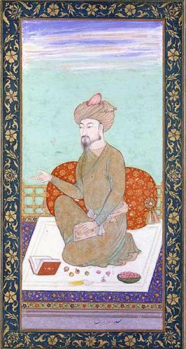 Portrait of Mughal Emperor Zahir ud-Din Mohammad (Babur). (Public Domain)