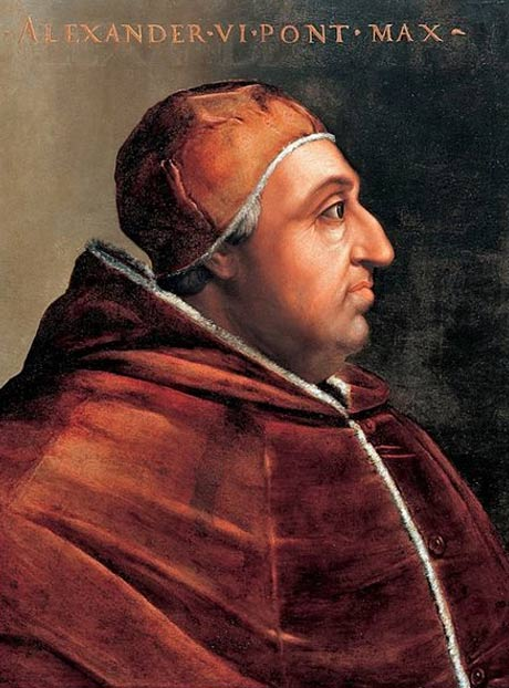 Portrait of Pope Alexander VI by Cristofano dell'Altissimo