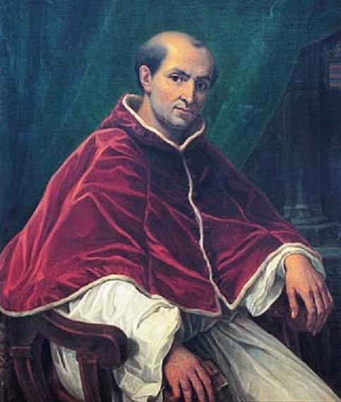 Portrait of Pope Clement V, Avignon, France.