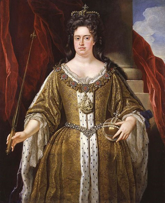 Portrait of Queen Anne (1665-1714) from the workshop of John Closterman. (Public Domain)