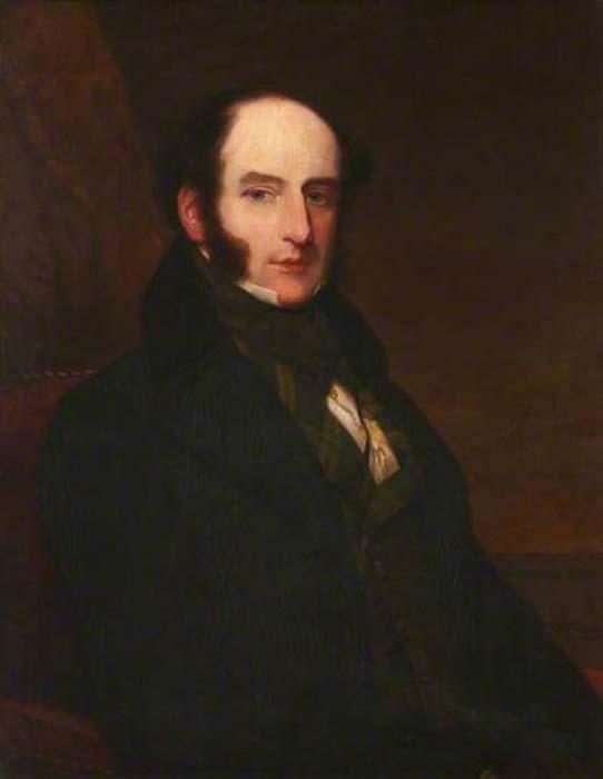 Portrait of Scottish Surgeon Robert Liston (1794–1847), painted in 1847 by Samuel John Stump. (Public Domain)
