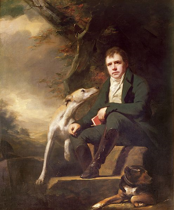 Portrait of Sir Walter Scott and His Dogs by Henry Raeburn, circa 1820s