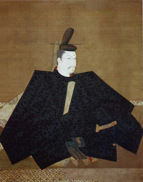 Alleged 'Portrait of Yoritomo', Hanging scroll; color on silk. Owned by Jingo-ji temple in Kyoto.