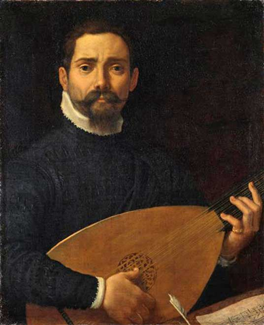 'Portrait of a Lute Player' (c. 1600) by Annibale Carracci.