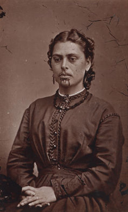 Portrait of a Maori woman, Mrs. Rabone.
