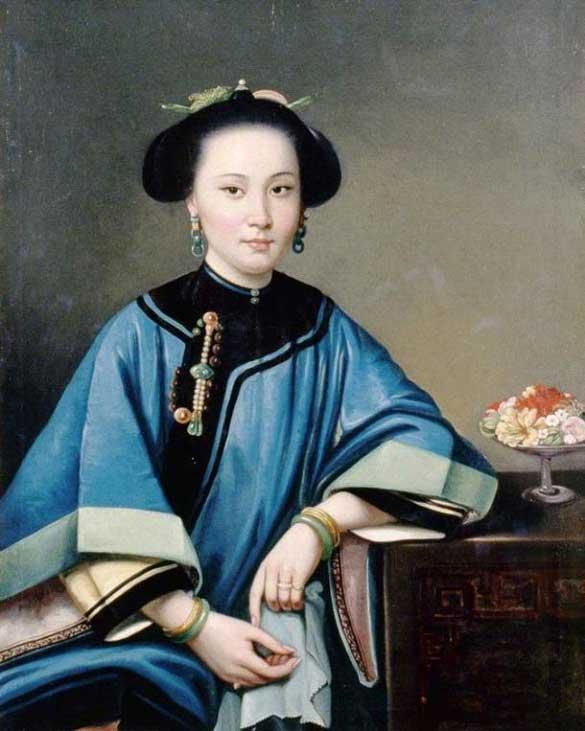 Portrait of a concubine, by Chinese painter Lam Qua, 1864. (Public Domain )
