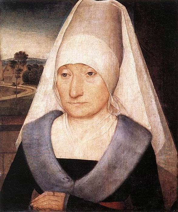 'Portrait of an Old Woman' (1470-1475) by Hans Memling.