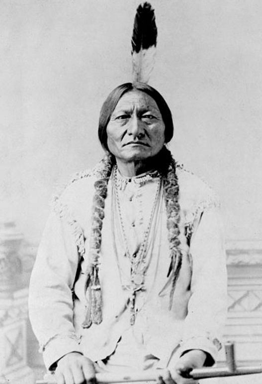 Portrait of chief Sitting Bull (1831-1890).